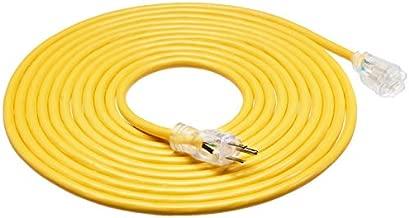 AmazonBasics 12/3 Heavy Duty SJTW Lighted Extension Cord, Yellow, 25 Foot