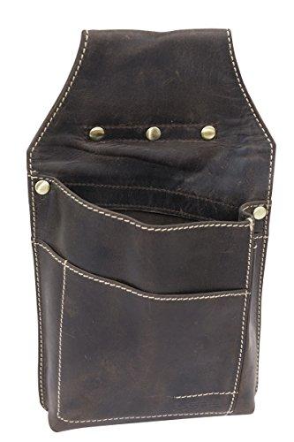 LEAS Bolsa para cartera de camarero para señores y señoras Vintage-Style, Piel auténtica, marrón Vintage-Collection''