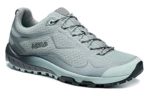 Asolo Women's Flyer Hiking Shoe Sky Grey/Grey 9 & Knit Cap Bundle