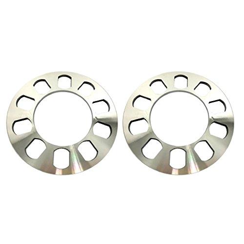 Separadores de Ruedas Spacers de rueda de automóviles de 2 piezas 5 orificios 5 mm FIT 5 LUG 5x114.3 5x120 5x120.7 5x127 originales