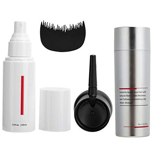Hair Building Growth Fiber Kit, Hair Thickener Hair Dense Hair Fiber 28g + Fiber Styling Water 100ml + Bangs Comb + Fiber Nozzle(LT BROWN)