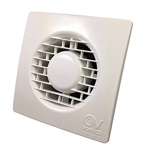 Vortice Aspiratore Elicoidale Da Muro Punto Filo con Timer Elettronico Spegnimento Automatico per ricambio aria bagno (11127 (Diametro Nominale Condotto 100 mm))
