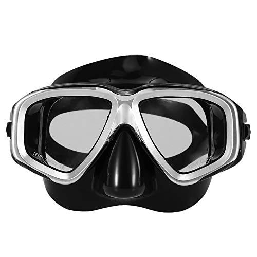 MHSHKS Máscara De Esnórquel Máscara De Buceo Máscaras De Snorkel Submarino Gafas De Buceo Antiniebla Máscara De Natación Gafas De Buceo De Vidrio para Hombres Mujeres (Color : White)