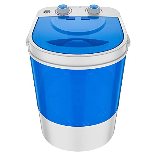VCJ Portable Washing Machine, 5.5LBS Compact Mini Washer, Laundry Machine, Timer control, Built-in Drain hose, for Camping, Apartments, Dorms and RVs