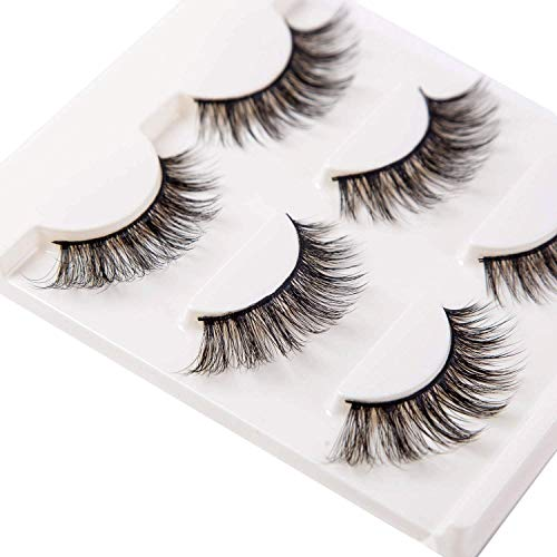 3D Mink Eyelashes Natural Look Handmade False Lashes Fluffy Demi Wispies...