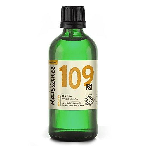 Naissance Teebaumöl BIO (Nr. 109) 100ml - 100% naturreines ätherisches Öl, natürlich, bio-zertifiziert, vegan