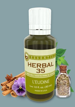 L'eudine Beauty and Health HERBAL 35 with 35 Essential Oils, 1 fl oz.
