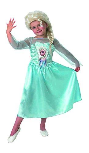 Rubie's-déguisement officiel - Disney- Déguisement Pour Enfant Panoplie Classique Elsa + Perruque - Taille L- 154984L
