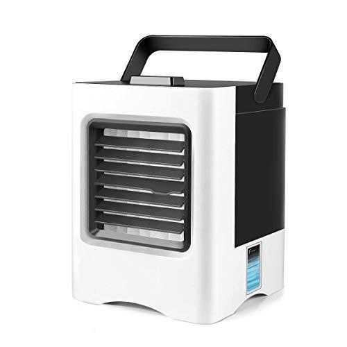 Mini Luftkühler, Tragbare USB Luftkühler 3 in 1 Air Cooler  Luftbefeuchter Luftreiniger 3 Leistungsstufen Mobiles Luftkühler für Office, Family, Camping - Weiß