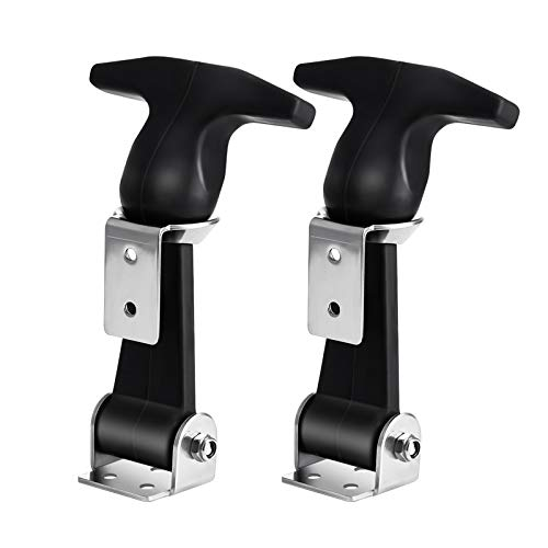 UEETEK 2pcs Flexible T-Handle Draw Latches Stainless Steel T-Handle Hasp for Golf Cart and Tool Box