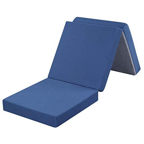 Olee Sleep Tri-Fold Folding Mattress - 4 Thick Memory Foam