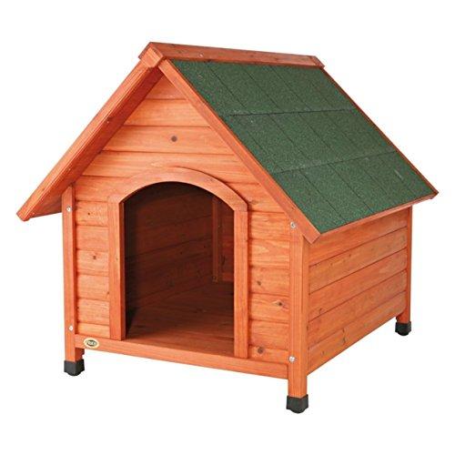 Trixie 39531 natura Hundehütte Cottage mit Satteldach, M: 77 × 82 × 88 cm, natur