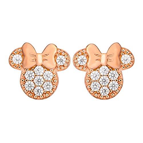 Minnie Mouse Juego de piedra Pendientes de oro rosa E904431PZWL.PH