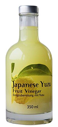 Feuer & Glas Japanischer Yuzu Essig, 350 ml - Feinschmecker-Essig ideal für Sushi, Fisch und Salat-Dressing