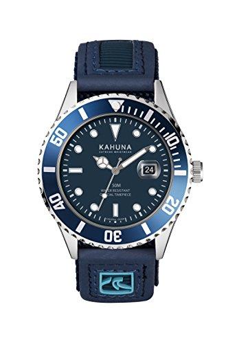 Kahuna Herren-Armbanduhr, sportlich, blaues Zifferblatt, Nylon-Armband, wasserdicht bis 50 m–KUV-0003G