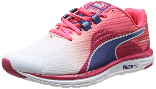 Puma Damen Faas 500 v4 Wn Laufschuhe, Weiß (01 white-virtual pink-blueprint-bright plasma), 38 EU