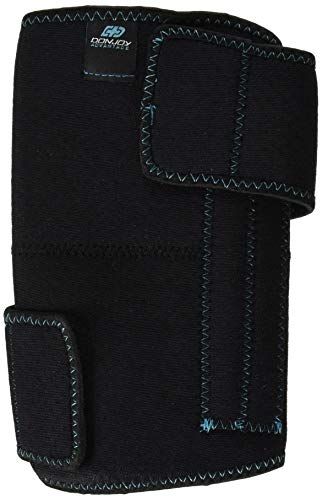 DonJoy Advantage DA161KW01-BLK Knee Wrap with Stays for Medial, Lateral Support, Sprains, Strains, Swelling, Stiffness, Arthritis, Adjustable Neoprene Fabric fits Left, Right, 13' to 19'