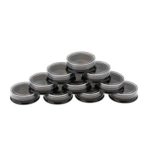 IPOTCH 10x Pots Vide Round en Plastique avec Couvercle Boîte de Bonbons pour Stockage Boutons Petit Cas De Stockage D'art D'ongle