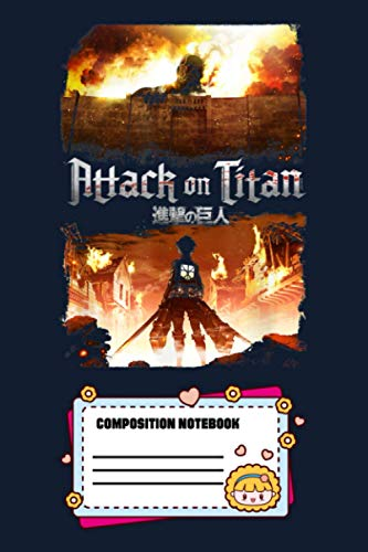 Attack On Titan Keyart ZXXRW Notebook: 120 Wide Lined Pages - 6' x 9' - College Ruled Journal Book, Planner, Diary for Women, Men, Teens, and Children