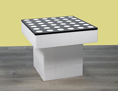 BAM - Table basse blanche modulable 57x57x48cm