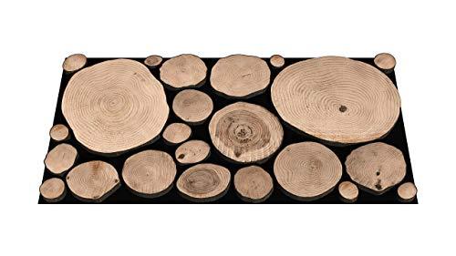 Holz Wandpaneele 2X (15 x 30 Zoll, 38 x 76 cm) Natur Wanddeko aus geölten Kiefernholzscheiben