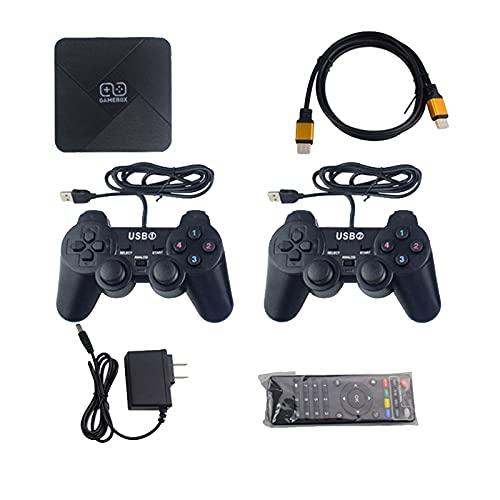 Mogzank Consola Retro 4K HD Android TV Box WiFi TV Video Consola de Juegos Dendy Construido en 5600+ Juegos (Consola con Cable)