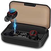 Wireless Earbuds Bluetooth 5.1, pendali TWS Wireless Headphones Earphone with 3100mAh Charging Case LED Battery Display 120H Playtime IPX7 Waterproof Deep Bass Touch Control Noise Canceling for Sport