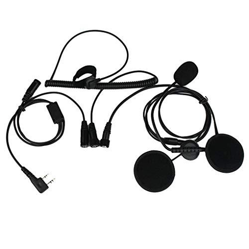Floridivy 2 Pin PTT Headset Walkie Talkie Motorfietshelm Microfoon pin vinger walkie Vervanging voor Kenwood Baofeng Two Way Radio