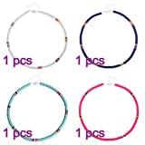 Koowaa Choker-Set, Perlenhalskette, Boho-Schmuck, bunte Perlen-Halsketten, für Frauen und Mädchen, Schmuck, Geschenke