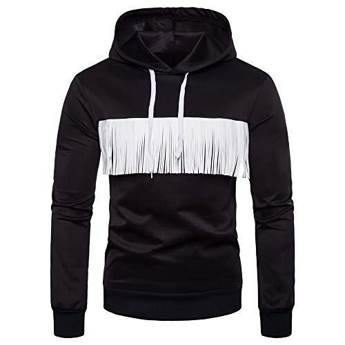 Primavera, Otoño e Invierno Tres Estaciones Caliente Nueva Calle Moda Borla Decorativa Con Capucha Slim Suéter Abrigo