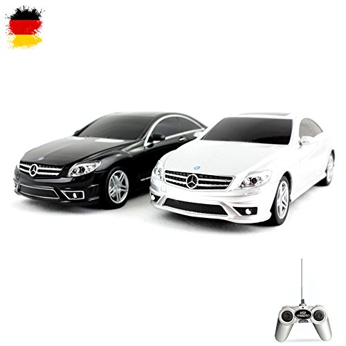 Unbekannt Mercedes-Benz CL 63 AMG - RC ferngesteuertes Lizenz-Fahrzeug im Original-Design, Modell-Maßstab 1:24 Auto inkl. Fernsteuerung,