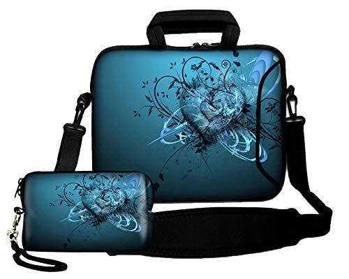 Luxburg® Schultertasche, 10 Zoll, weich, für Notebooks, mit Handgriff, plus Schutzhülle für Kameras