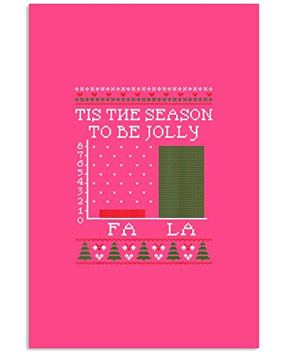 AZSTEEL Christmas Carol Bar Graph Funny Math Holiday Fla L | Poster No Frame Board For Office Decor, Best Gift For Family And Your Friends 11.7 * 16.5 Inch
