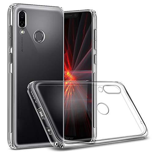 QULLOO Huawei Honor Play Cover Custodia, Custodia Trasparente Morbida TPU [Ultra Leggere e Chiaro] Silicone Ultra Sottile Case per Huawei...