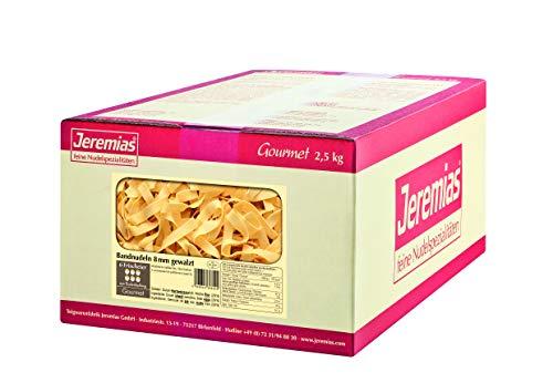 Jeremias Bandnudeln 8 mm gewalzt, Gourmet Frischei-Nudeln, 1er Pack (1 x 2.5 kg Karton)