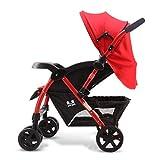 NAUY @ Baby Trolley Alto Paisaje Se Puede Acostar Ultra-ligero Portátil Plegable 1-3 años de edad Niño Bebé Ampliado Alargado Dos vías Carrito de bebé Paraguas de acero inoxidable Carro Trolley Oxford