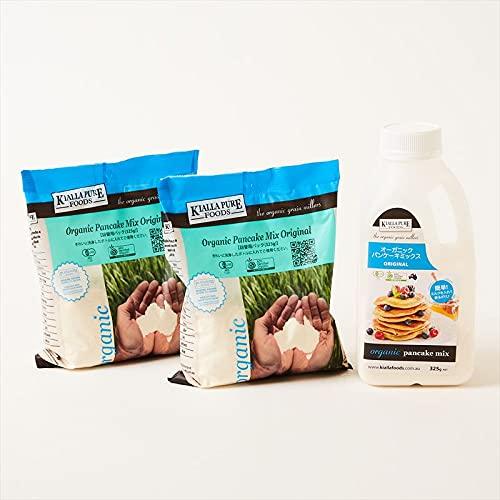 キアラピュアフーズ 有機 パンケーキミックス 325g x 3 (ボトル 1+詰め替え用袋 2)アメリカ パンケーキ ホットケーキ