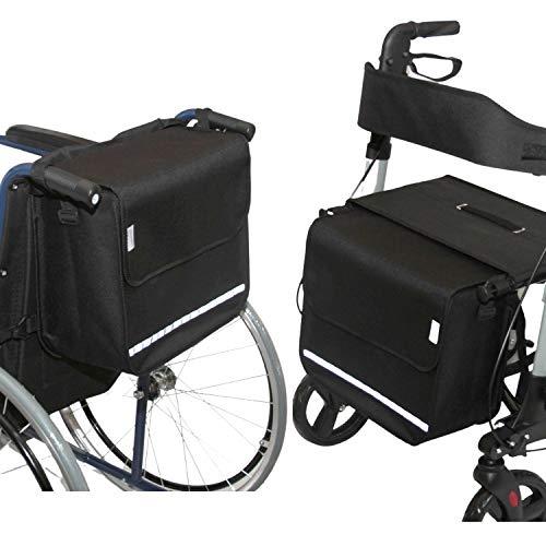 SENIORI Rollator/Rollstuhl Tasche Rollatortasche Rollstuhltasche Universal (2. Schwarz)