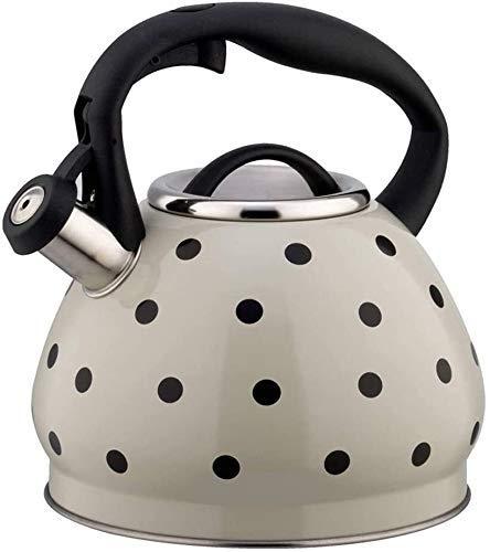 Kreatywność 3L czajnik gazowy czajnik stal nierdzewna gwizdek czajnik kuchenka gazowa kuchenka gwizdka czajnik garnek bouilloire kuchenki indukcyjne dzbanki (Color : A-white)