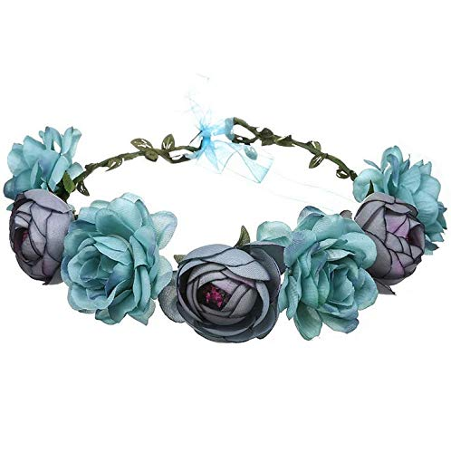 MUCHEN SHOP Diadema de Flor,Corona de Flores Mujeres Guirnalda de Coro