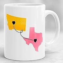 Long Distance Mug, State to State Mug, Custom Long Distance Mug, Mother Mug, Mother's Day Gift, Gift for Mom, Birthday Gift for Mom