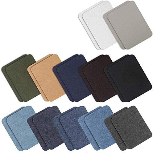 24 Piezas 12 Colores 3.7'x 4.9') Hierro en parches Chaqueta Jean Ropa Parches de mezclilla Parches de reparación de hierro...