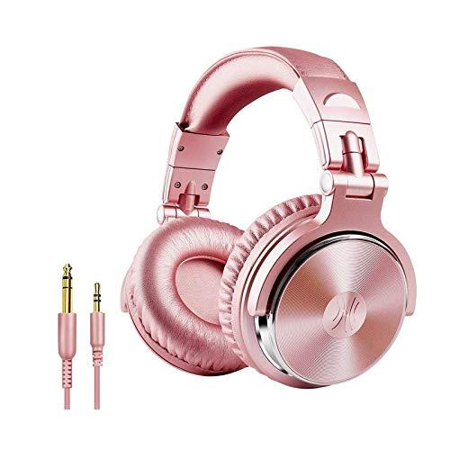 Zhangmeiren Casque Filaire Headset Surveillance DJ Professionnel Spinning Test Pratique De Production D'enregistrement De Musique Vocale (Color : Pink)