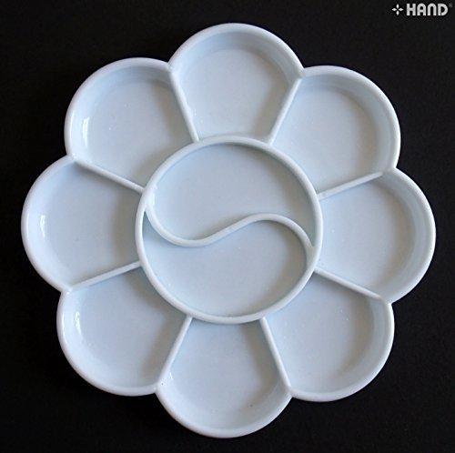 R598 Colour Farbwanne aus Kunststoff in Weiß klein 10 Mulden Get gratis beim Kauf von 1 Mischpalette - 1!