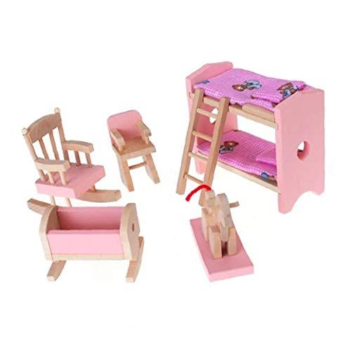 Miniatura De Madera De Muebles Incluir Litera Presidente Cuna Kid Regalo De Los Niños Casa De Muñeca De Juguete Mini Muebles