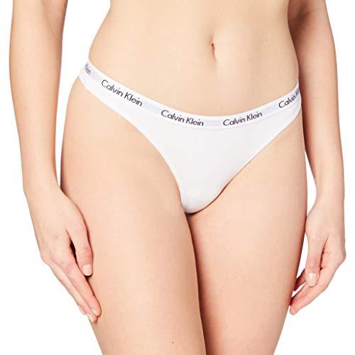 Calvin Klein Carousel-Thong Bragas, Blanco (WHITE 100), S para Mujer