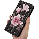 Latest 3D Shinning Painted Wolf Pink Flower Pattern On