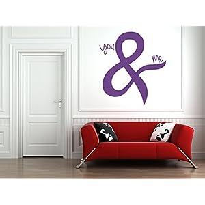 """You & Me"" Zitat. Vinyl Wandkunst Aufkleber. Wandbild, Aufkleber. Zuhause, Wanddekor. Liebeszitat, Jubiläum, Hochzeit, verheiratet, Paar. Schlafzimmer Dekor"