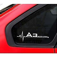 アウディA4B5 B6 B7 B8 B9 A3 8P 8V 8L A5 A6 C6 C5 C7 4F A1 A7 A8 Q2 Q3 Q5 Q7 RS3 RS4 RS5 RS6 TT、車のサイドウィンドウステッカーデカール
