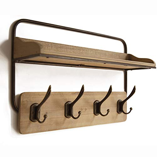 Lavish Home Wood, Storage Bench – Closet, Bathroom, Kitchen, Entry Organizer, 4-Tier Space Saver Shoe Rack, Natural